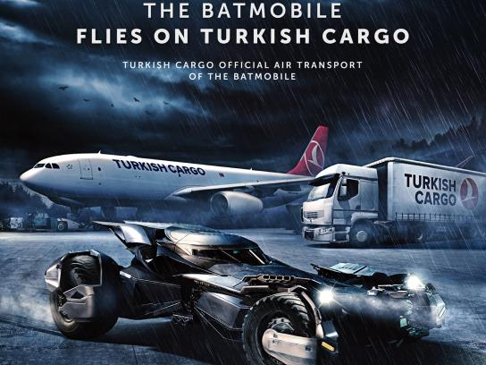 Turkish Cargo Print Ad - The batmobile