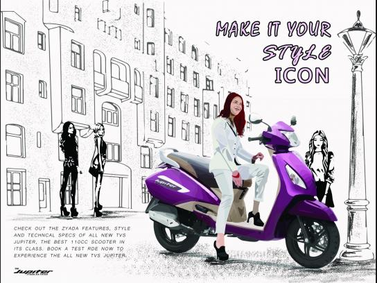 TVS Print Ad - Make It Your Style Icon