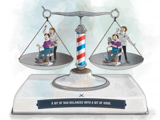 Equilibra Print Ad -  Haircut