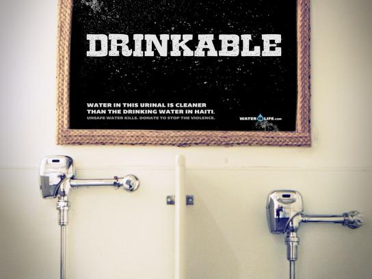 Water is Life Outdoor Ad -  Drinkable