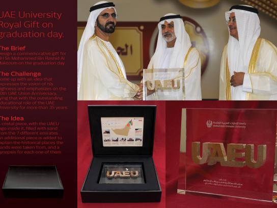 United Arab Emirates University Direct Ad -  Graduation Ceremony Gift