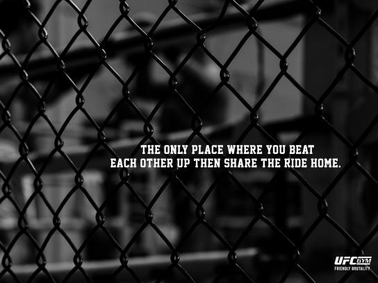 UFC Gym Print Ad - Friendly Brutality, 1