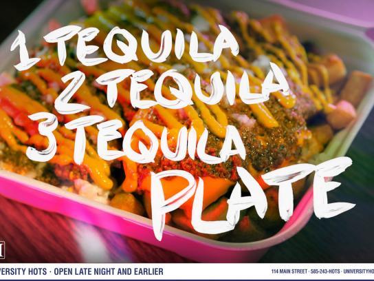 University Hots Print Ad -  Tequila
