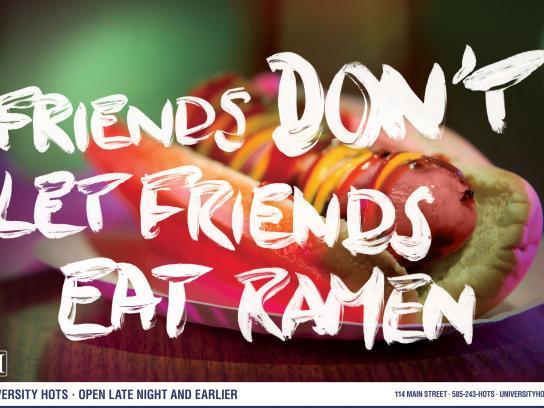 University Hots Print Ad -  Ramen