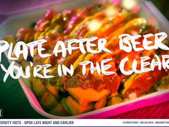 University Hots Print Ad -  Clear