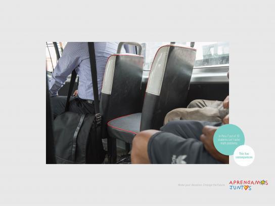 Aprendamos Juntos Print Ad - Uncomfortable Bus