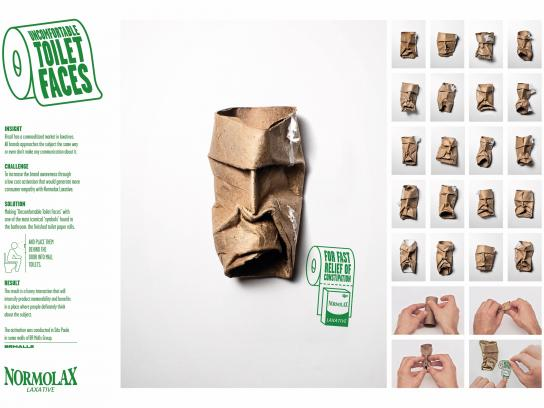 Normolax Direct Ad - Uncomfortable Toilet Faces