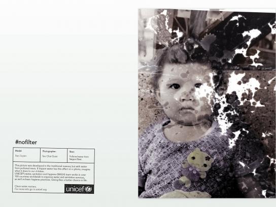 Unicef Print Ad - #NoFilter, 1