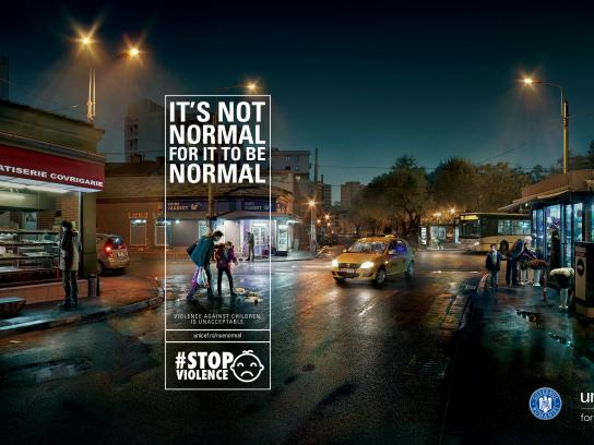 Unicef Print Ad - It's not normal for it to be normal