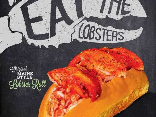 Lobster ME Outdoor Ad -  Whales