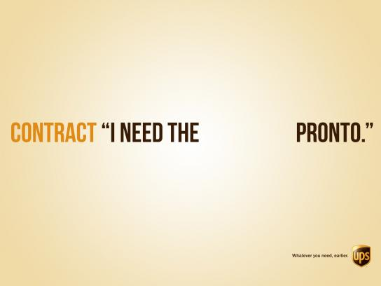 UPS Print Ad -  Contract