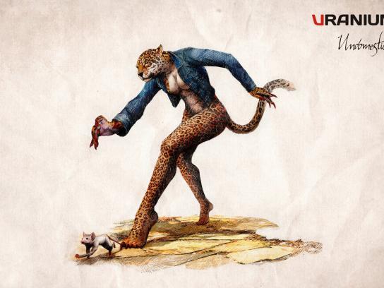 Uranium Jeans Print Ad -  Leopard