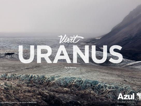 Azul Brazilian Airlines Print Ad - Uranus