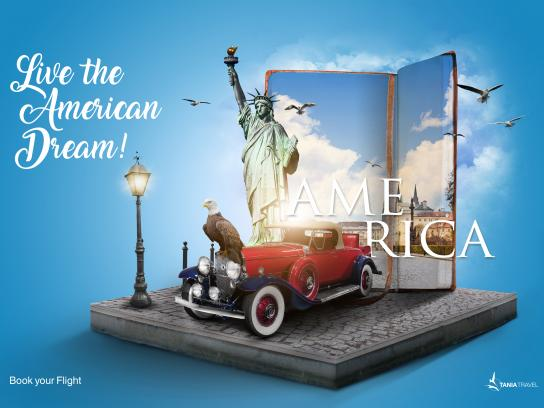 Tania Travel Print Ad - USA