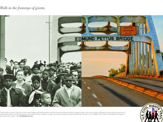 U.S. Civil Rights Trail Print Ad - Edmund Pettus Bridge