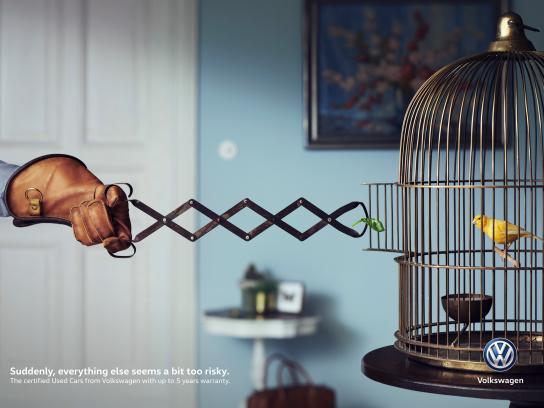 Volkswagen Print Ad - A Bit Too Risky - Bird
