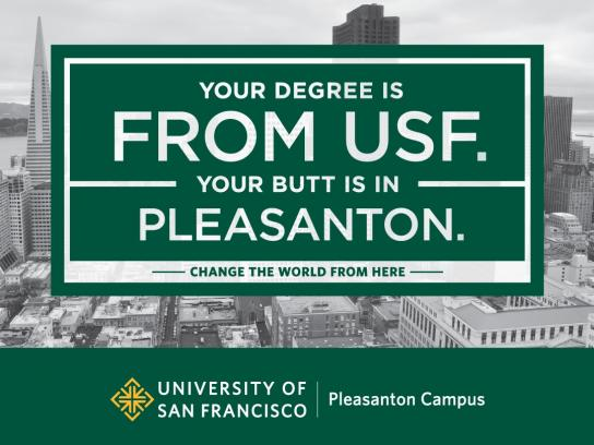 University of San Francisco Outdoor Ad -  Butt