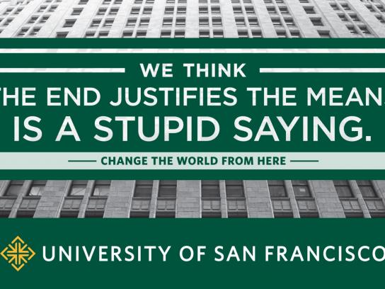 University of San Francisco Print Ad -  Stupid