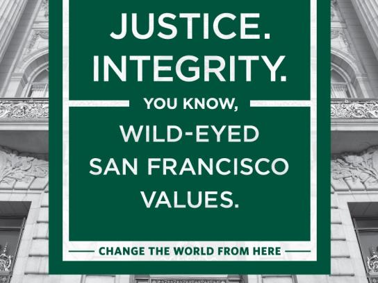 University of San Francisco Print Ad -  Values