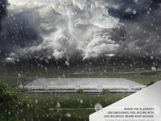 USG Corporation Print Ad -  Hail