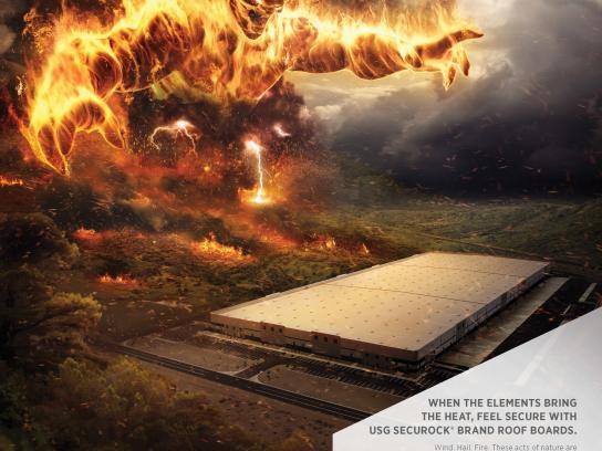 USG Corporation Print Ad -  Fire