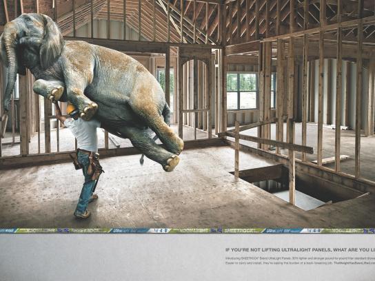 USG Corporation Print Ad -  Elephant