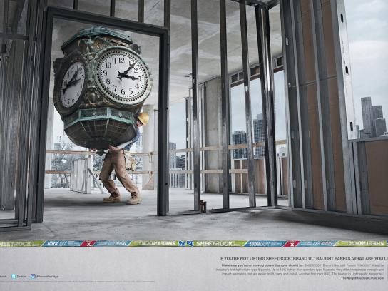 USG Corporation Print Ad -  Clock