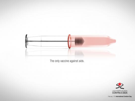 Portuguese League Against Aids Print Ad -  Vaccine