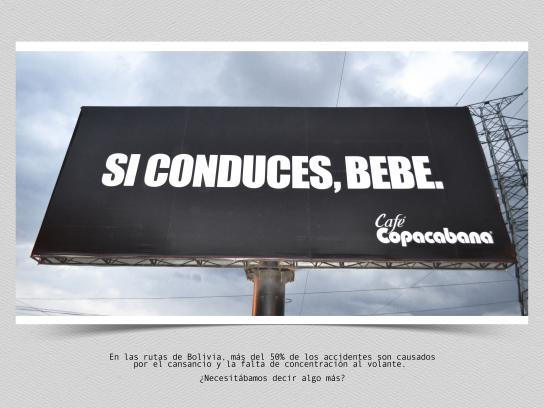 Café Copacabana Outdoor Ad - Do drink and drive