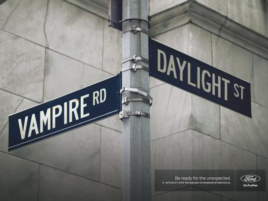 Ford Print Ad - Unexpected  Signs - Vampire