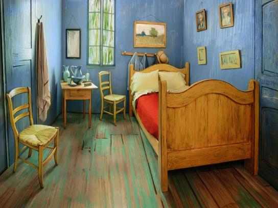 The Art Institute of Chicago Ambient Ad - Van Gogh BnB