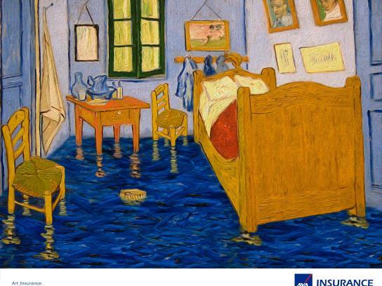 AXA Print Ad -  Flooded Bedroom in Arles