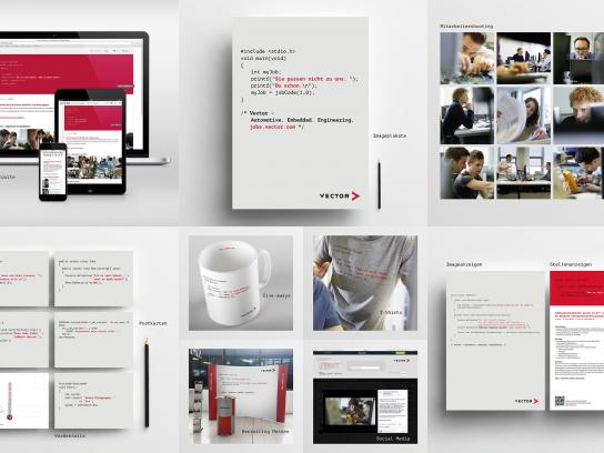 Vector Digital Ad -  Coded ads - Employer branding campaign