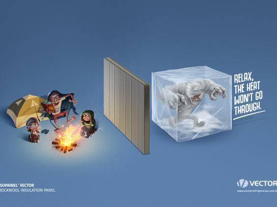 Vector Print Ad - Camp Fire