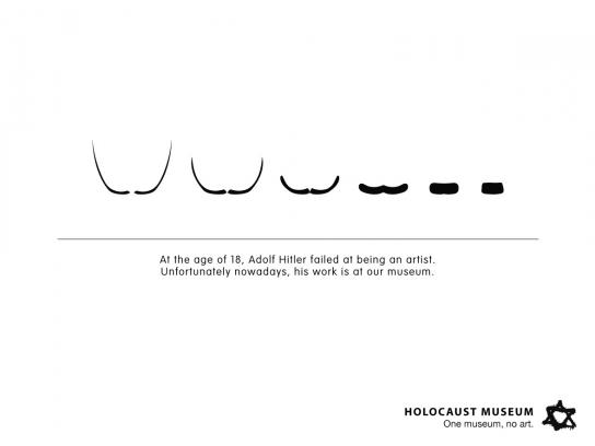 Holocaust Museum Print Ad -  Moustaches