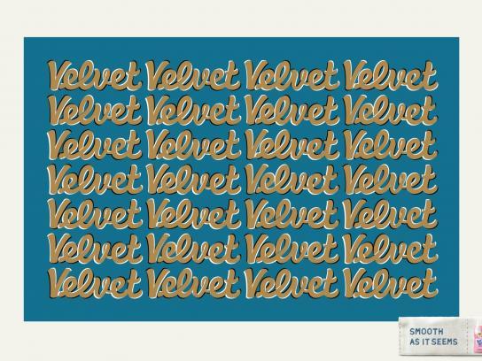 Vernel Print Ad -  Velvet