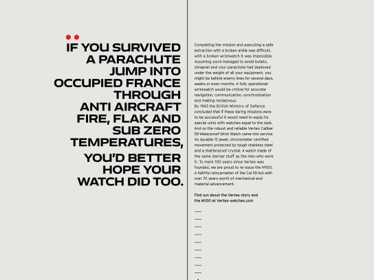 Vertex Print Ad - Parachute