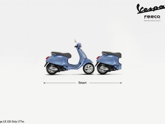 Vespa Print Ad -  Vespa smarter