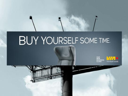 VIA Rail Outdoor Ad -  Buy yourself some time