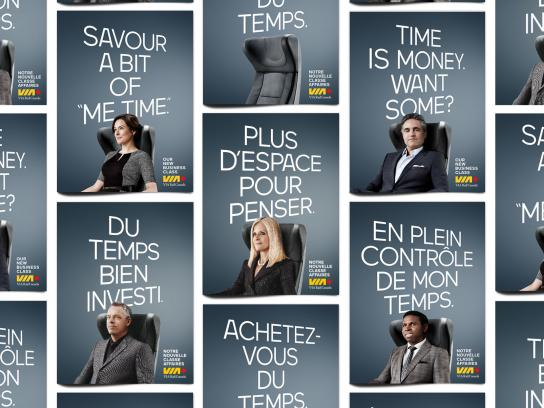 "VIA Rail Outdoor Ad -  Savour a bit of ""me time"""