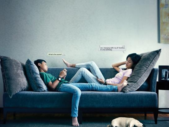 Vicks Print Ad -  Siblings