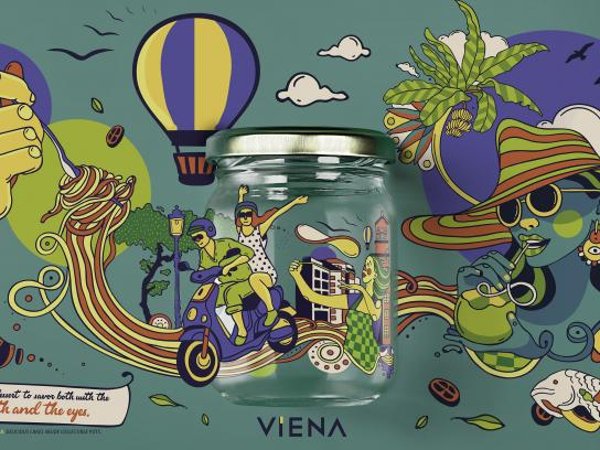 Viena Print Ad - Collectible pots - green