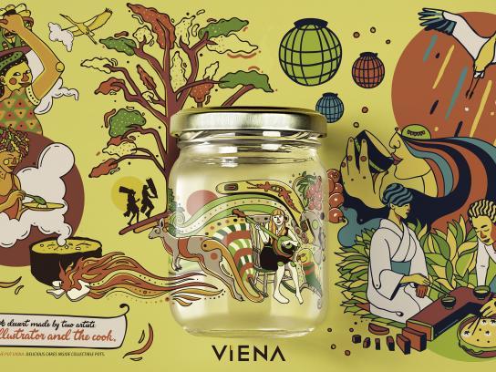 Viena Print Ad - Collectible pots - yellow