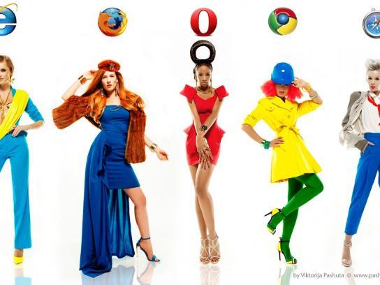 Vanichi Print Ad -  What if girls were internet browsers