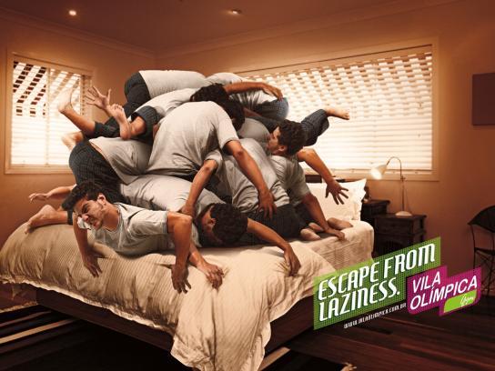 Vila Olimpica Print Ad -  Bed