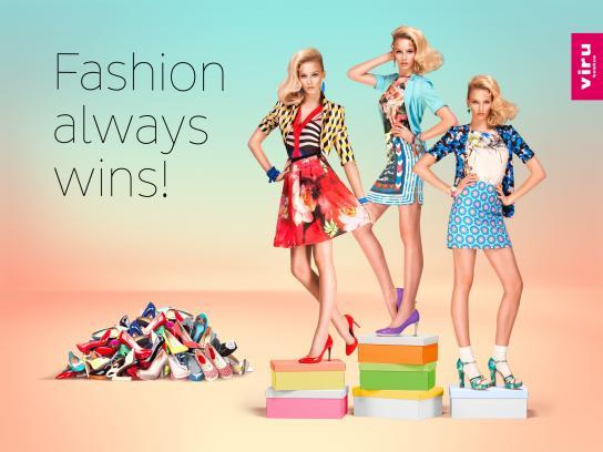 Viru Keskus Print Ad -  Fashion always wins