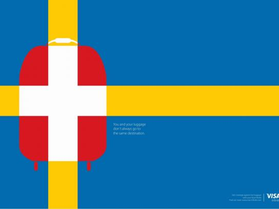Visa Print Ad - Sweden/Switzerland
