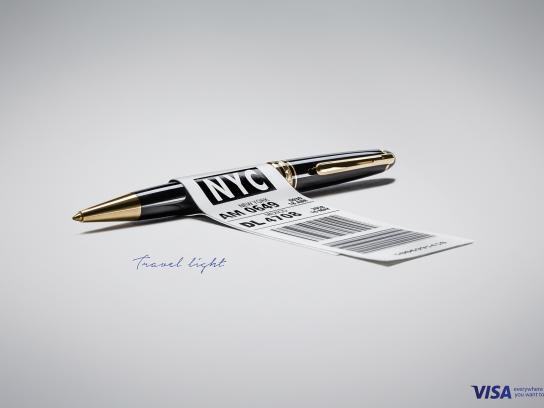 Visa Print Ad -  Travel light