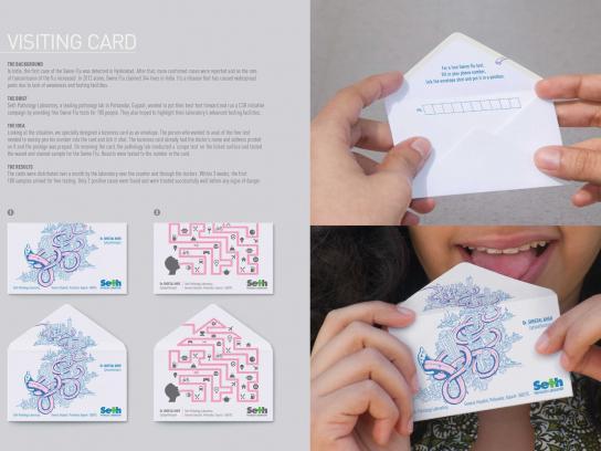 Seth Pathology Laboratory Direct Ad -  Visiting Card