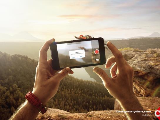 Vodafone Print Ad - Sorry / Jump, Print